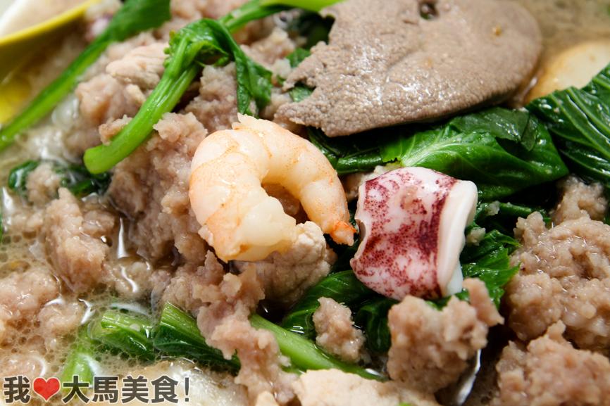 海鲜, 山海茶餐室, 猪肉粉, sun sea, pork noodle, taman oug, kl